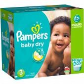 Maxi mega pack de 456 Couches Pampers Baby Dry sur auchan