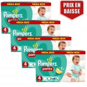 Maxi mega pack de 416 Couches de Pampers Baby Dry Pants sur auchan