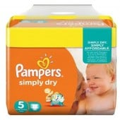 Pack 41 Couches de Pampers Simply Dry sur 123couches