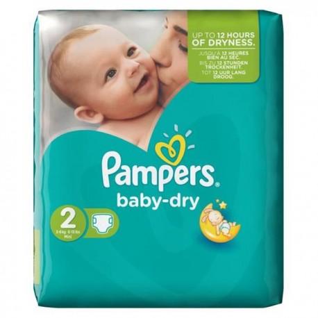 Pack de 35 Couches de la marque Pampers Baby Dry poids (3-6 kg) de taille 2 (Mini) de Starckman