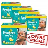 Couches Pampers baby dry taille 5+ - 340 couches bébé