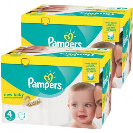 Couches Pampers new baby premium protection taille 4 - 192 couches bébé de Starckman