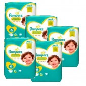 Couches Pampers new baby premium protection taille 6 - 224 couches bébé