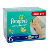 Couches Pampers active baby dry taille 6 - 84 couches bébé
