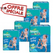 Couches Pampers active baby dry taille 6 - 168 couches bébé
