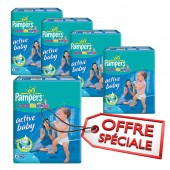Couches Pampers active baby dry taille 6 - 210 couches bébé