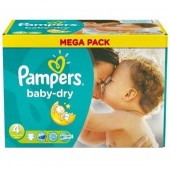 Couches Pampers Baby Dry taille 4 - 44 couches