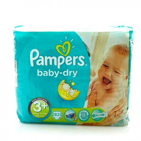Giga Pack 82 Couches Pampers Baby Dry de Starckman