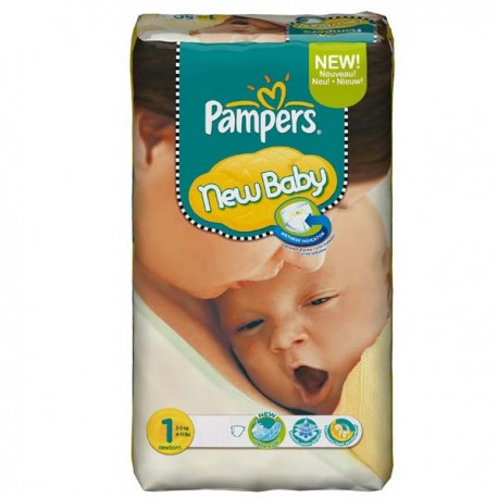 Couches Pampers New Baby Dry taille 1 - 172 couches de Starckman
