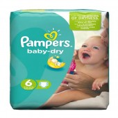 Pack 31 Couches Pampers Baby Dry sur amazon