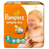 Pack de 32 Couches Pampers Simply Dry sur couches zone