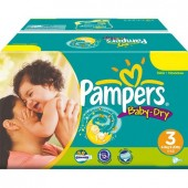 Maxi Giga Pack 272 couches Pampers Baby Dry