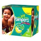 Pack économique de 360 Couches de Pampers Baby Dry sur auchan