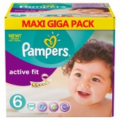 Maxi Pack 192 Couches Pampers Active Fit sur tooly