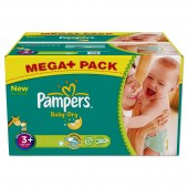 Maxi Giga Pack 328 Couches Pampers Baby Dry