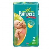 Pack 44 Couches Pampers Baby Dry sur 123couches