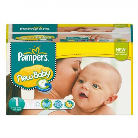 Couches Pampers New Baby Dry taille 1 - 301 couches de Starckman