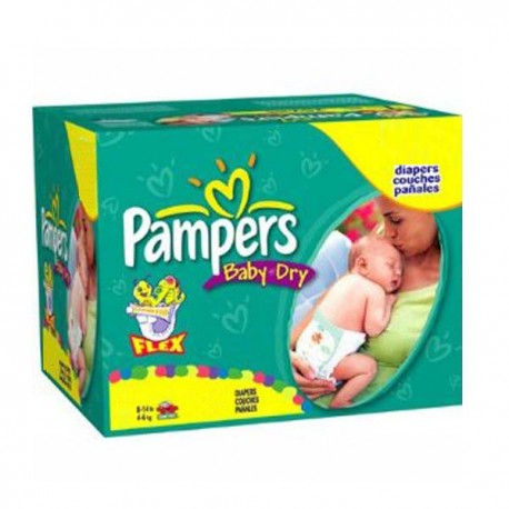 Maxi Giga Pack 252 Couches Pampers Baby Dry de Starckman