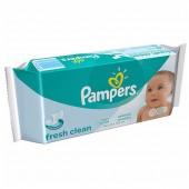 Pack de 64 Lingettes Bébés de Pampers Fresh Clean sur couches zone