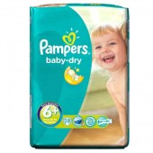 Pack de 38 Couches Pampers Baby Dry sur 123couches