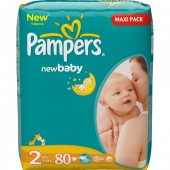 Pack 80 Couches Pampers New Baby Premium Protection sur cdiscount