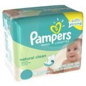 Giga Pack de 64 Lingettes Bébés Pampers de Natural Clean sur priceminister - rakuten