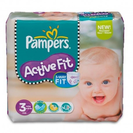 Couches Pampers Active Fit taille 3 - 123 couches de Starckman