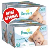 Giga Pack de 540 Couches de Pampers New Baby Sensitive sur soscouches