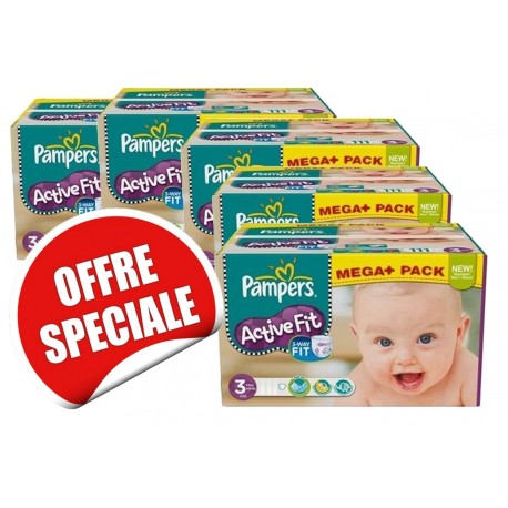 Couches Pampers Active Fit taille 3 - 615 couches de Starckman