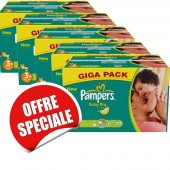Maxi Giga Pack Jumeaux de 680 Couches Pampers de Baby Dry sur soscouches