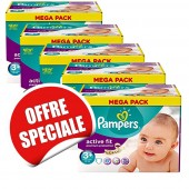 Couches Pampers Active Fit taille 3+ - 560 couches