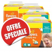 Maxi Giga Pack Jumeaux 744 Couches de Pampers Simply Dry sur soscouches