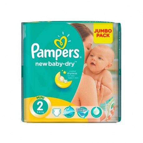 Couches Pampers New Baby Dry taille 2 - 68 couches de Starckman