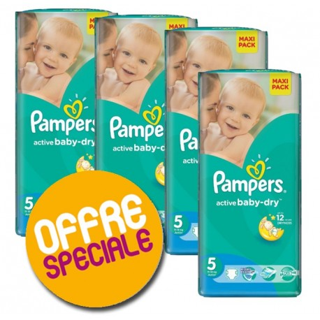 Couches Pampers Active Baby Dry taille 5 - 252 couches de Starckman