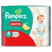 Couches Pampers Baby Dry Pants taille 4 - 23 couches