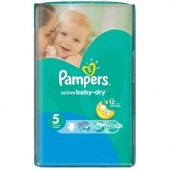 Pack de 58 Couches Pampers Active Baby Dry sur amazon