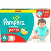 Couches Pampers Baby Dry Pants taille 6 - 190 couches