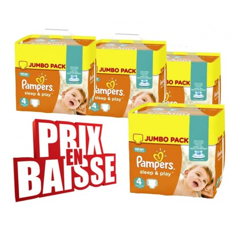 Couches Pampers Sleep & Play taille 4 - 550 couches de Starckman