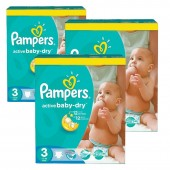 Giga Pack 296 couches Pampers Active Baby Dry