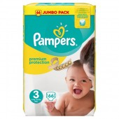 Pack 66 Couches Pampers Premium Protection