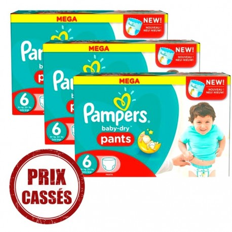 Couches Pampers Baby Dry Pants taille 6 - 105 couches de Starckman