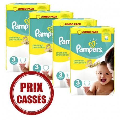 Couches Pampers Premium Protection taille 3 - 232 couches de Starckman