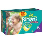 Maxi Mega pack 152 Couches Pampers de Baby Dry sur layota