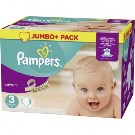 Couches Pampers Active Fit taille 3 - 120 couches de Starckman