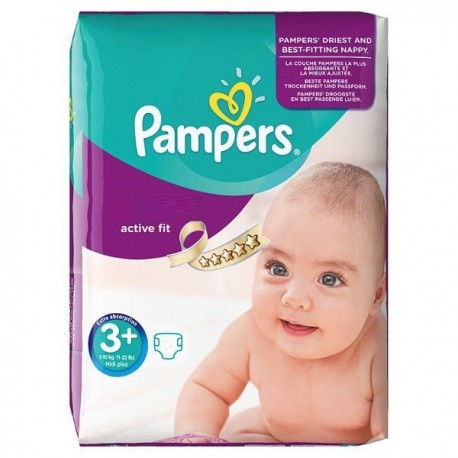 Couches Pampers Active Fit taille 3+ - 70 couches de Starckman