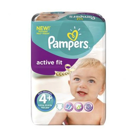 Couches Pampers Active Fit taille 4+ - 50 couches de Starckman