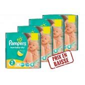 Pack économique de 272 Couches de Pampers New Baby Dry sur auchan