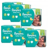 Maxi Giga Pack 301 Couches Pampers Baby Dry