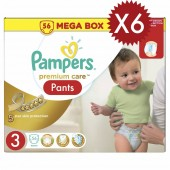 Maxi Giga Pack 336 couches Pampers Premium Care Pants