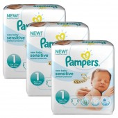 Maxi Giga Pack 168 couches Pampers New Baby Sensitive